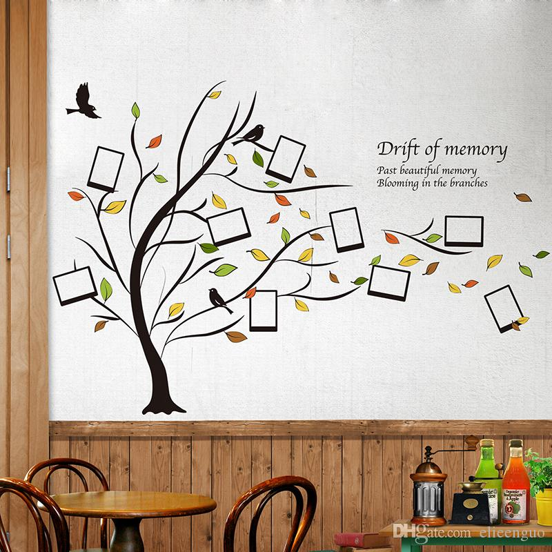 Decorative Wall Stickers fallen leaves photo frame wall stickers creative diy family tree