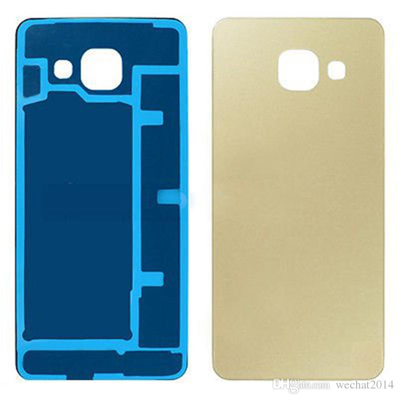 100 ADET OEM Pil Geri Konut Kapak Cam Kapak Yapıştırıcı ile Samsung Galaxy A3 A5 A7 2016 A9
