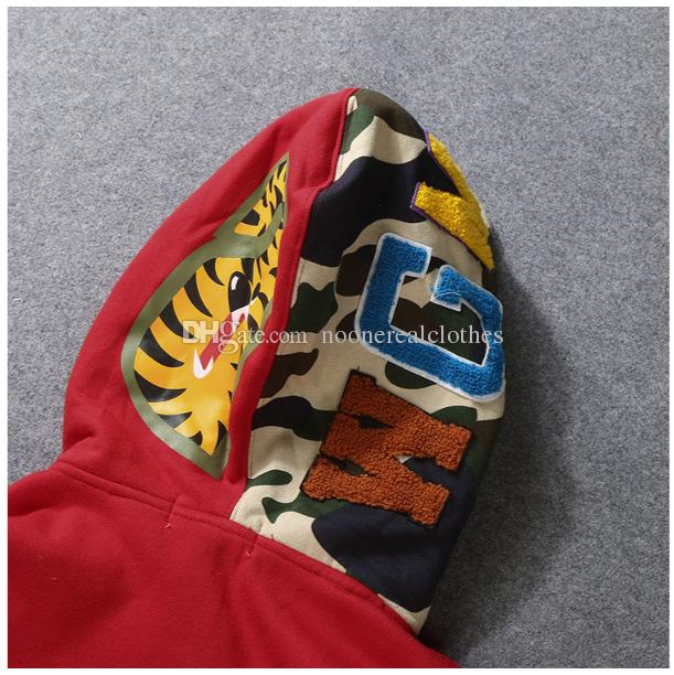 Erkek kadın Sportwear Ceket Jogging Yapan Eşofman Kazak Polar Kazak Crewneck Kuş OVO Drake Siyah Hip Hop stusay Hoodie Erkekler ...
