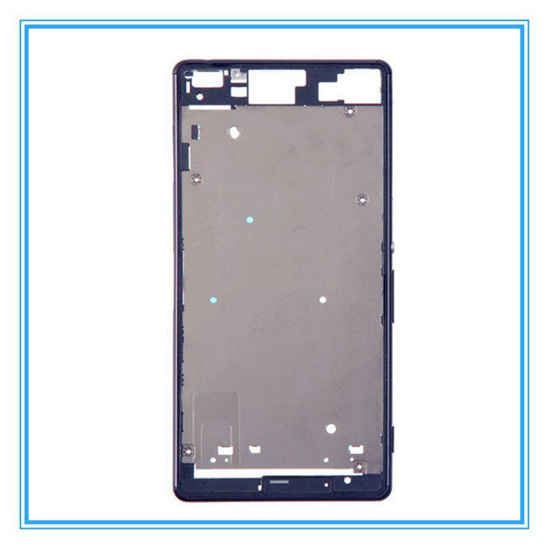 DHL Livraison D'origine Remplacement LCD Avant Châssis Cadre Lunette Plaque pour Sony Xperia Z3 Simple D6603 D6653 / Z3 Double D6633 D6683 Moyen Chass