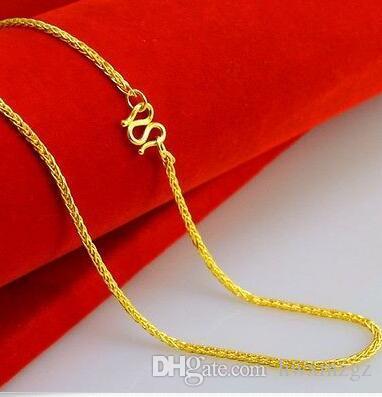 Collana autentica in oro giallo 14K / Collana con catena a maglia di miglior grano / 9-10 g