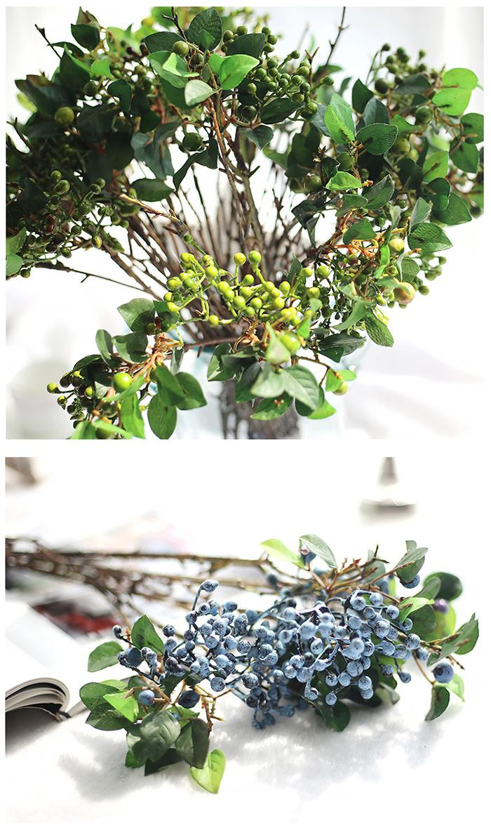 Toptan Yapay meyveleri buketleri için sahte çiçek meyve berry bitkiler düğün ev yatak seti masa dekorasyon