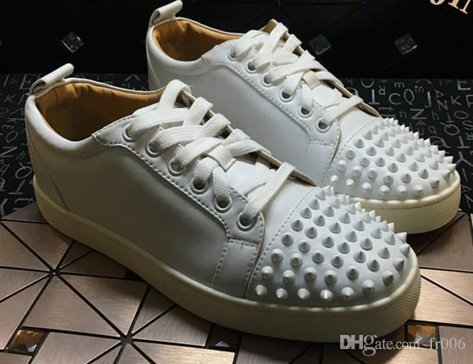 2018 Free Shipping Low Red Bottom Shoes Mens Designer Shoes Men's and Women's Leather Casual Shoes Size 35-46 2014 new online nEP1s