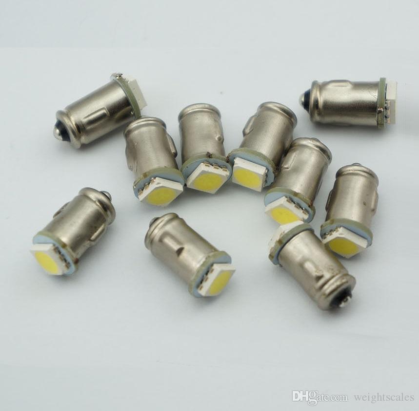BA7S Diodo 7mm REDONDO 1 LED SMD 12 V t2 led lâmpadas auto Instrumento luz interior Baioneta Base DASHBOARD lâmpadas