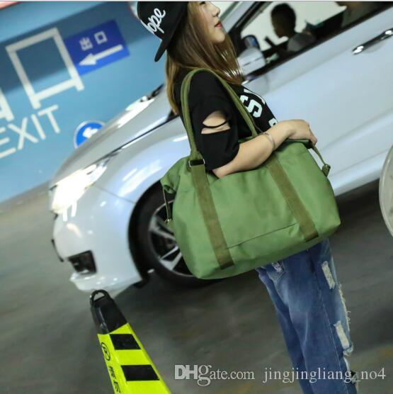 Korean Women Female Shoulder Bag Fashion Nylon Baggage Bag Folding Handbag Package Trave Bag LJJY200