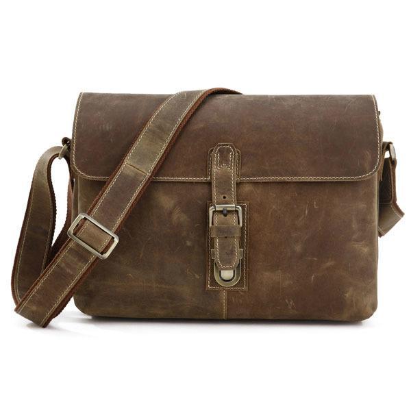 b33be8f117 Men S Nubuck Crazy Horse Genuine Leather Shoulder Inclined Crazy Horse Leather  Bag Laptop Notebook Camera Travel Bag Messenger Bags For Men Designer Bags  ...