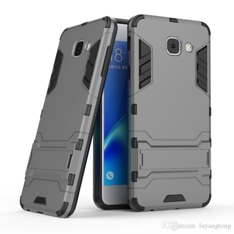 online store a1f4e e61f4 For galaxy J7 Max 5.7 Hybrid TPU PC Shockproof anti-knock protector cover  Iron Man Case For Samsung Galaxy J7 Max Coque Fundas