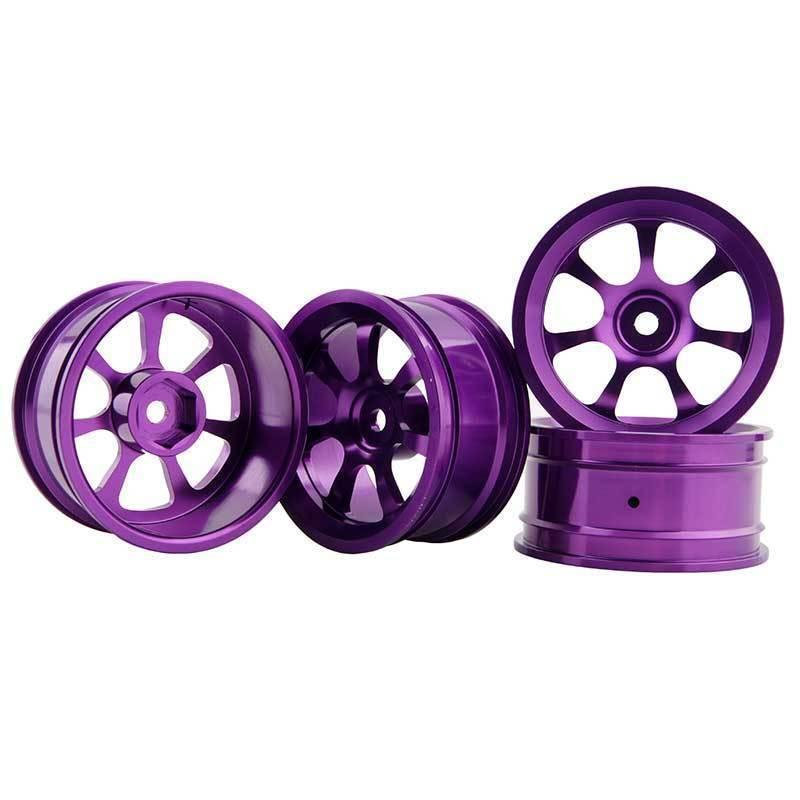 RC Aluminum Wheel 4pc D:52mm W:26mm Fit HSP HPI 1:10 On-Road Drift Car Rim 107P