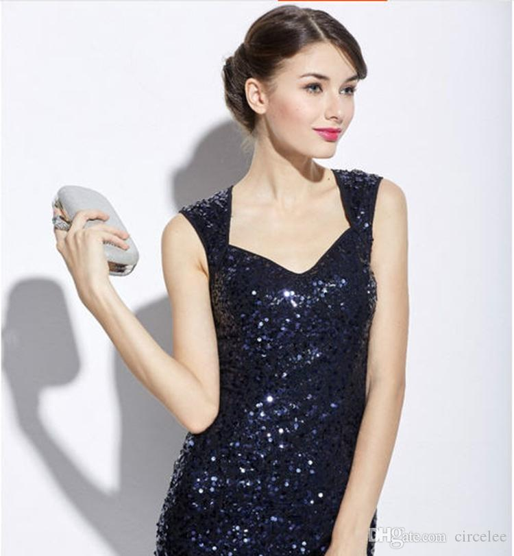 Sequined Bridesmaid Dresses Online Cheap Beautiful Party Wear Cocktail Dresses Short Celebrity Dresses Formal Evening Gowns