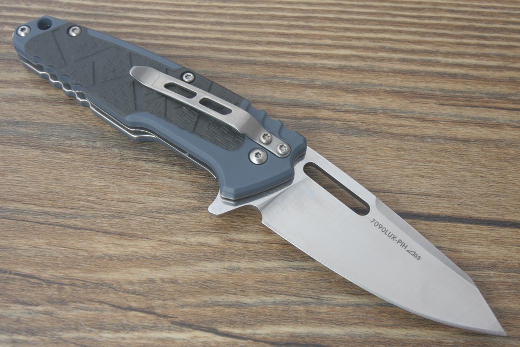 Sanrenmu 7090LUX-PHI Couteau pliant Camping EDC Chasse Chasse Autodéfense Chasse Randonnée Tactique Combat 58-60HRC Poignée En Plastique