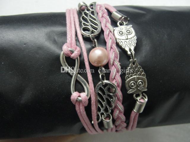 Factory price Mix 30 Style New arrival anchor leather chain bracelet Leather cross Bracelet handmade personalized jewelry