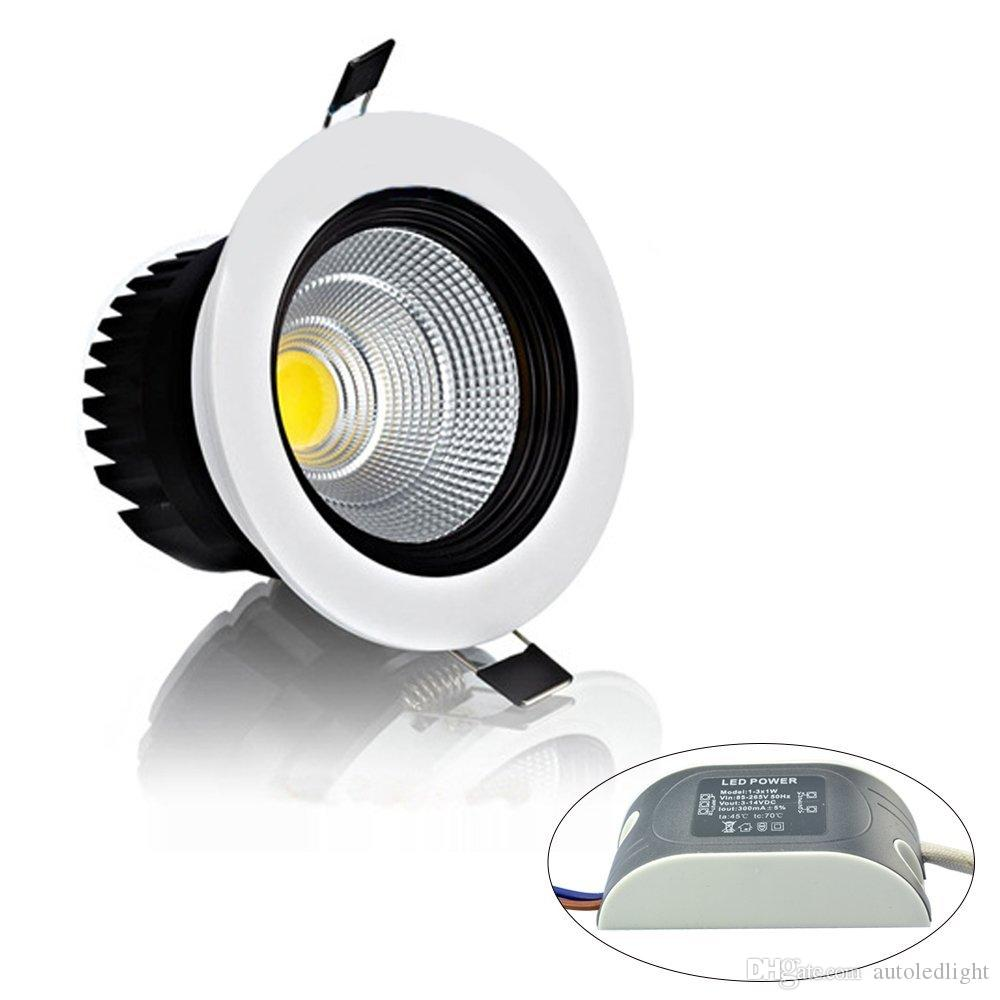 Dimmable Recessed led downlight cob 6W 9W 12W 15W dimming LED Spot light led ceiling lamp AC 110V 220V