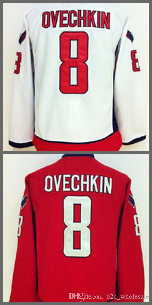 best loved fad94 78957 Washington 8 Alex Ovechkin Jersey Men Fashion Home Red Road White Alexander  Ovechkin Ice Hockey Jerseys Sports All Stitched Quality