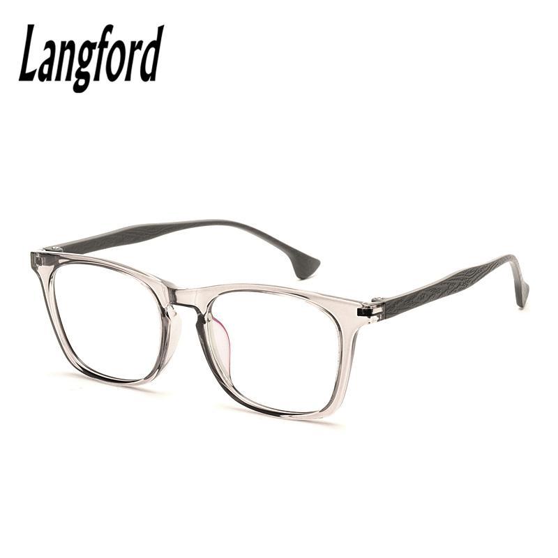 beb81ff69 Compre Atacado Óculos De Armação Transparente Ultra Leve Tr90 Óculos  Completos Armação Miopia Óculos De Armação Masculino Mulheres Óculos  Ópticos ...