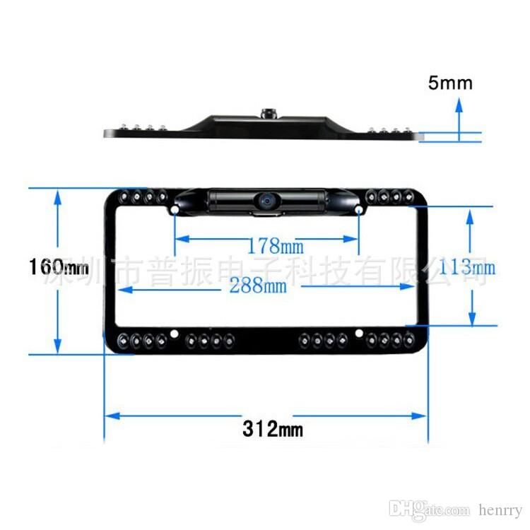 USA US Lisence Plate Car Camera For America IP 67 Waterproof Car Camera Reverse Camera DC 12V 1/4 CMOS