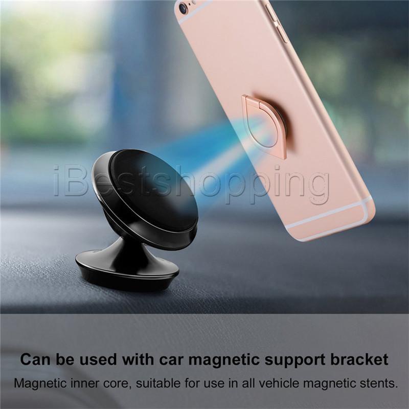 Suporte de caixa de gota de água de alta qualidade Suporte de anel de telefone móvel universal Anel magnético com pacote de varejo para iPhone XR Sumsung todo aparelho