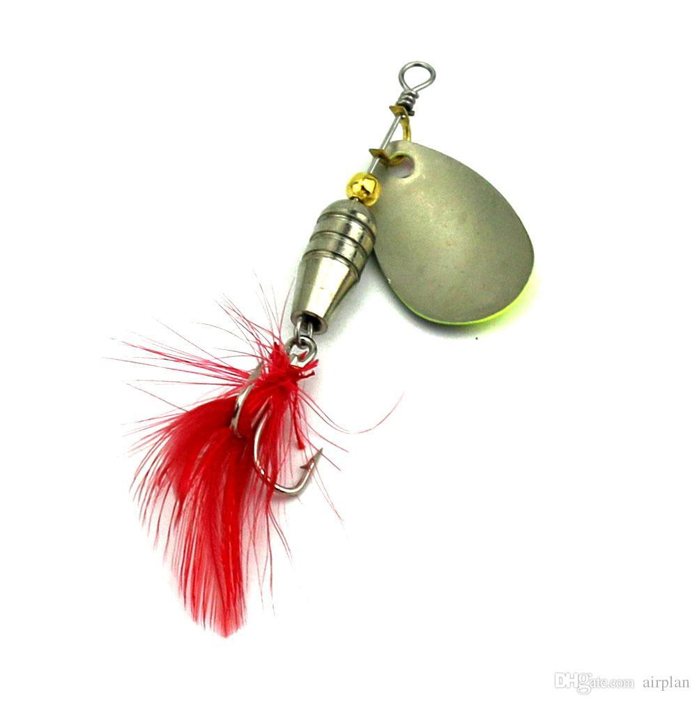 di Metal cucchiaio del filatore di pesca richiamo duro esche artificiali Paillettes trivellante Esca la pesca Accessori Pesca Ganci Leurre Peche
