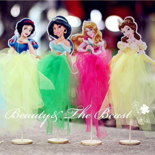 2017 Princess Snow White Ariel Belle Cinderella Elsa Cupcake