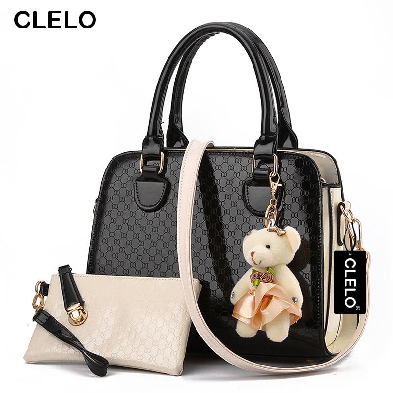 4dfa610ecfc Wholesale CLELO Brand New 2016 Women Bag With Fashion Doll Composite Bag  For Female PU Leather Geometric Print Drop Shipping Shoulder Bags For Women  Handbag ...