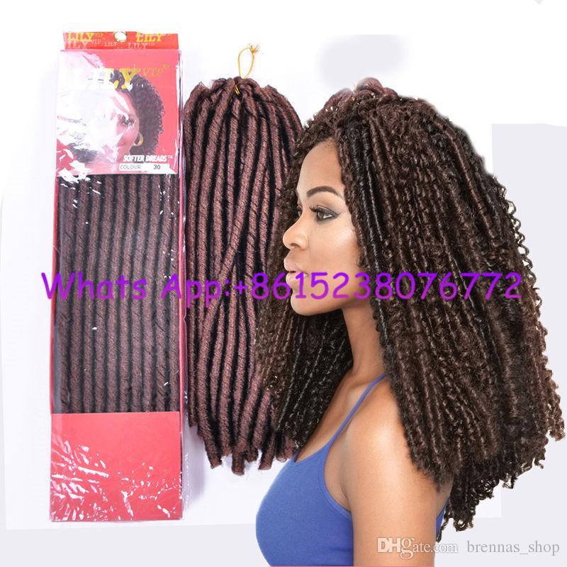 2019 14inch Soft Cuban Twist Faux Locks Dreadlockstwist Hair 14inch