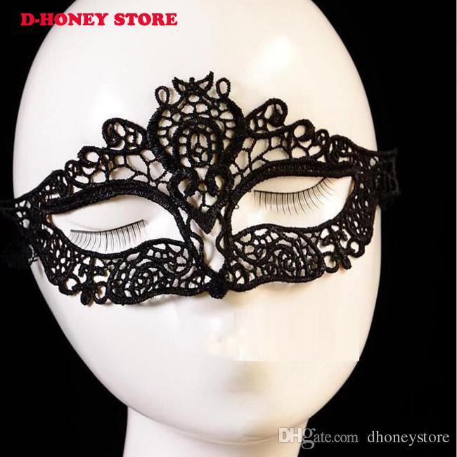 Kadınlar Için Siyah Seksi Dantel Maske Parti Gizemli Retro Lady Göz Maskesi Masquerade Partisi Fantezi Elbise Venedik Kostümleri