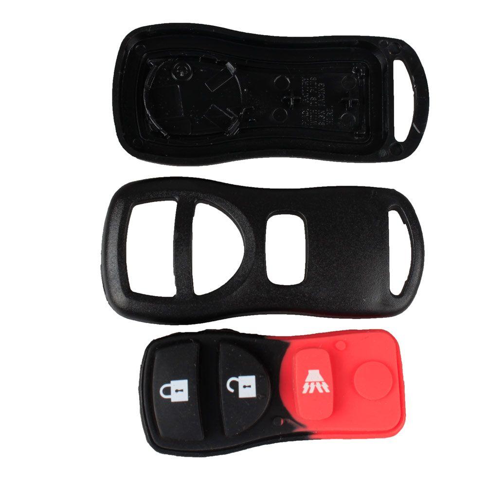 3 Button Key Shell Remote Key Fob Case For NISSAN Armada Titan Versa Frontier Xterra Pathfinder Murano Quest Tire Pressure Alarm car-styling