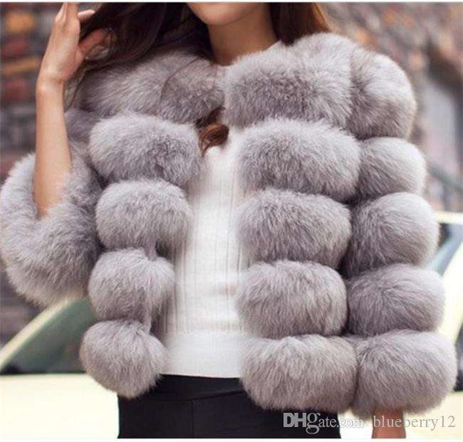 نوعية جيدة أزياء الفاخرة الجديدة سترة الفراء فوكس المرأة القصيرة في فصل الشتاء سترة معطف دافئ صدرية متنوعة من الألوان لاختيار