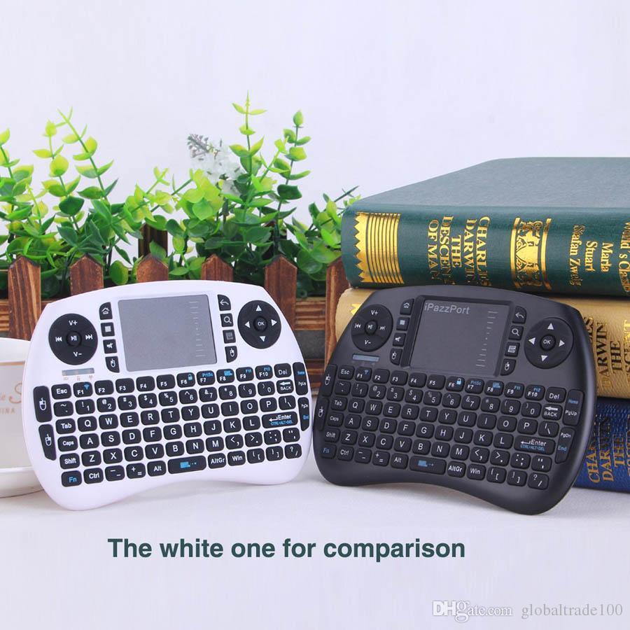 Clavier de jeu mini i8 sans fil d'origine iPazzPort avec pavé tactile pour Android TV Box, Raspberry Pi 3 et HTPC KP-810-21S