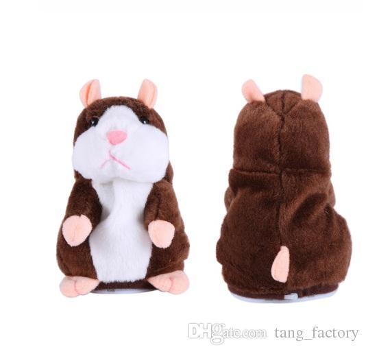 Hablar Hamster de peluche de juguete lindo hablar sonido registro Hamster 15 cm hámster mascota hablando registro Ratón de peluche de juguete para niños KKA1507