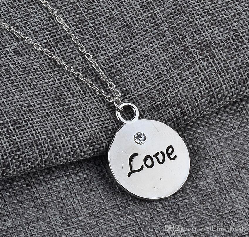 Best gift Popular jewelry good friends Best friend girlfriend pendant necklace WFN463 with chain a