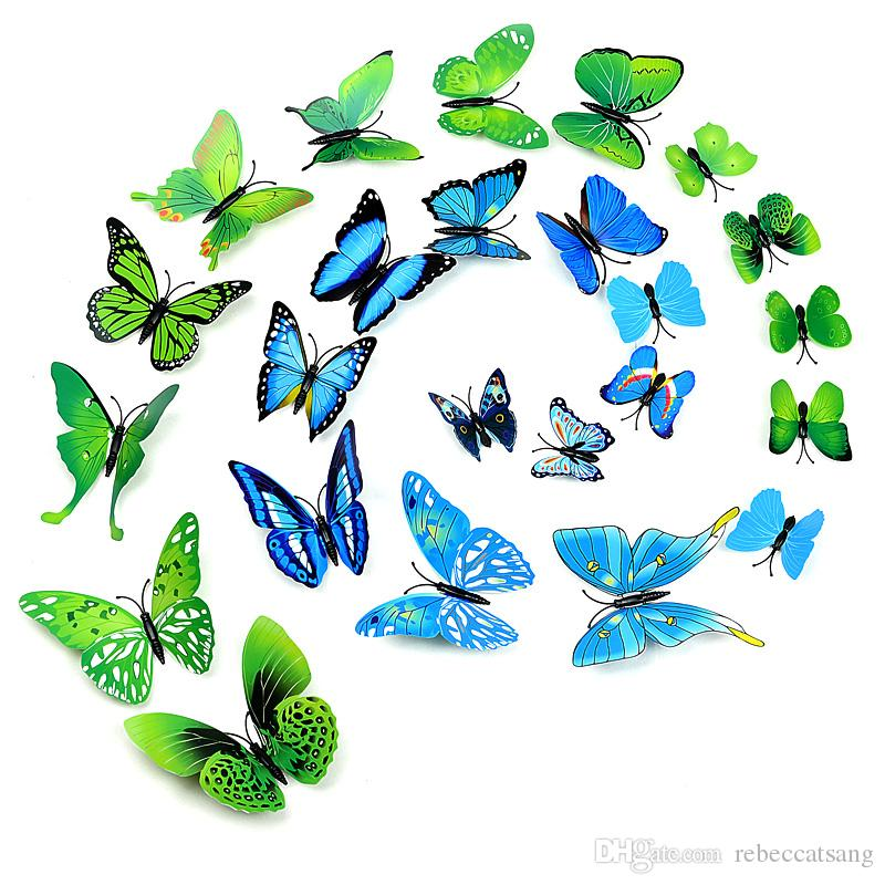 3D Stimulaition Butterflies Decoration Remoable DIY Wall Stickers Pvc Cinderella Butterfly Home Decor In Stock Decals Designs
