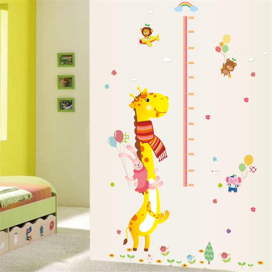Removable vinyl giraffe rabbit height chart wall stickers hot see larger image amipublicfo Gallery