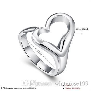 Groothandel - detailhandel laagste prijs kerstcadeau, gratis verzending, nieuwe 925 zilveren mode ring R13
