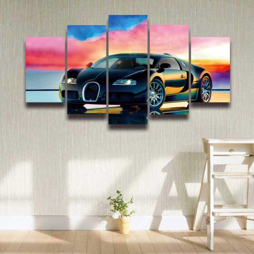 Grosshandel Leinwand Wandkunst Sport Auto Prints Leinwand Malerei