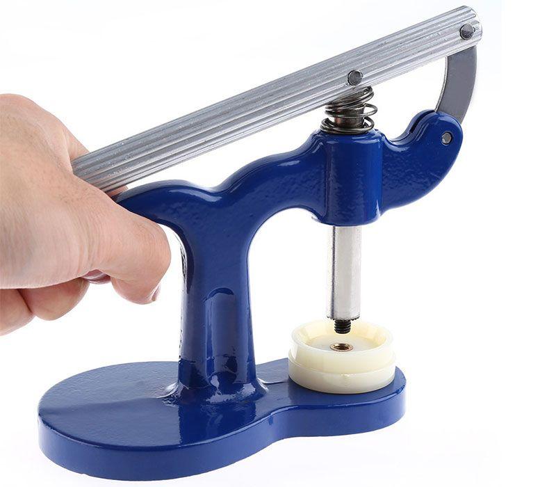 Überlegene Uhr zurück näher Uhrmacher Presse Set Repair Tool Kunststoff Wathes Fall Kristallglas Presse Set Repair Kit Tools