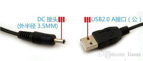 60CM / 2FT USB-Ladegerät-Kabel zu DC 3.5 Millimeter Stecker / Jack DC3.5 Stromkabel /