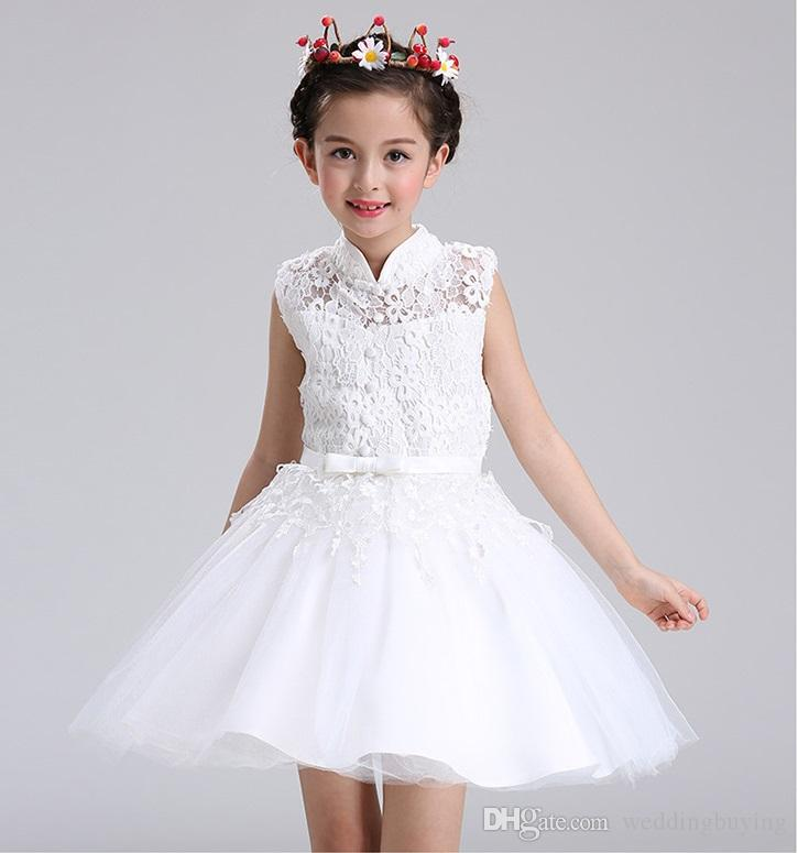 0d78a09349f Hot Selling Children Dress 2017 New Style Flower Girls Dresses Princess  Dress Piano Performance Bubble Skirt Flower Girl Skirt Good Price Vintage  Flower ...