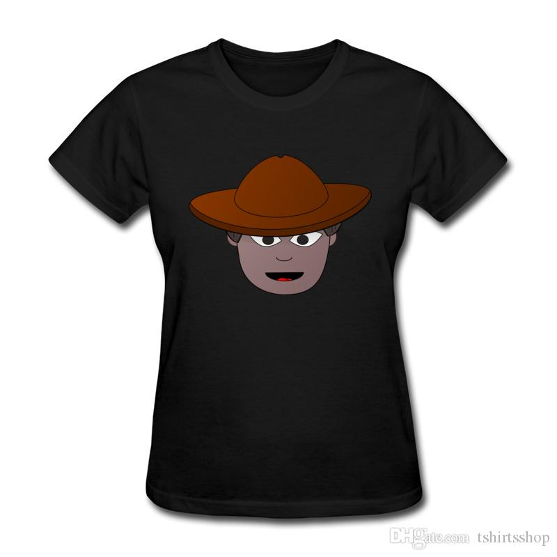 Latest Custom-built Women T-shirts Black Skin Fashion Boy on Shirts Wholesale Fancy Girls Top Quality Tees