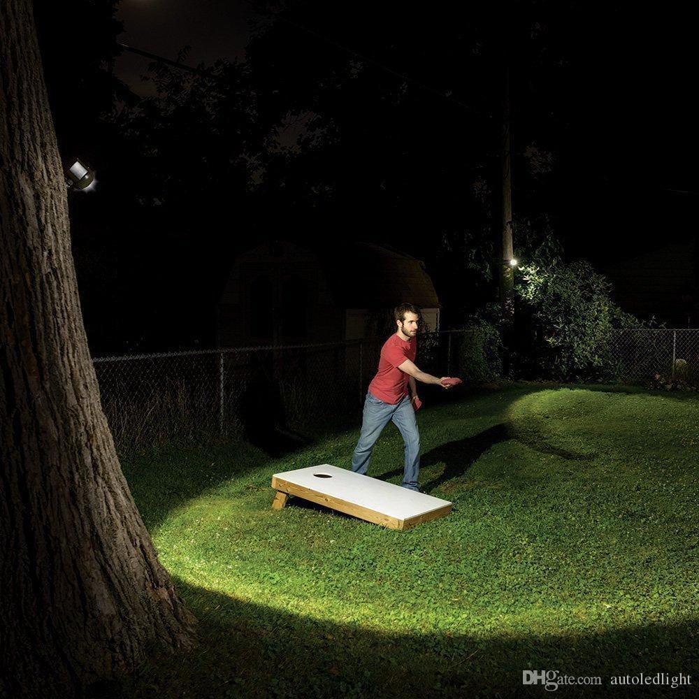 Wall Lamps 2 LED Solar Sensitive Motion Sensor Light Ultra Bright Spotlight with Panel for Path Porch Garden