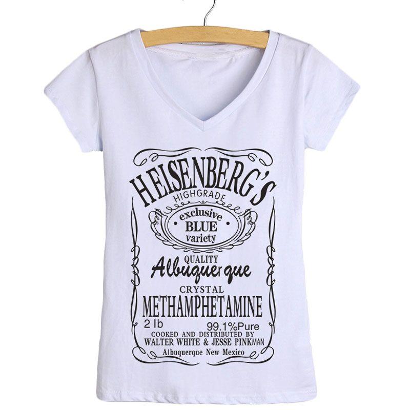 Breaking Großhandel Frauen Heisenberg Shirts Großhandels Bad T Mode BshxtdQrC