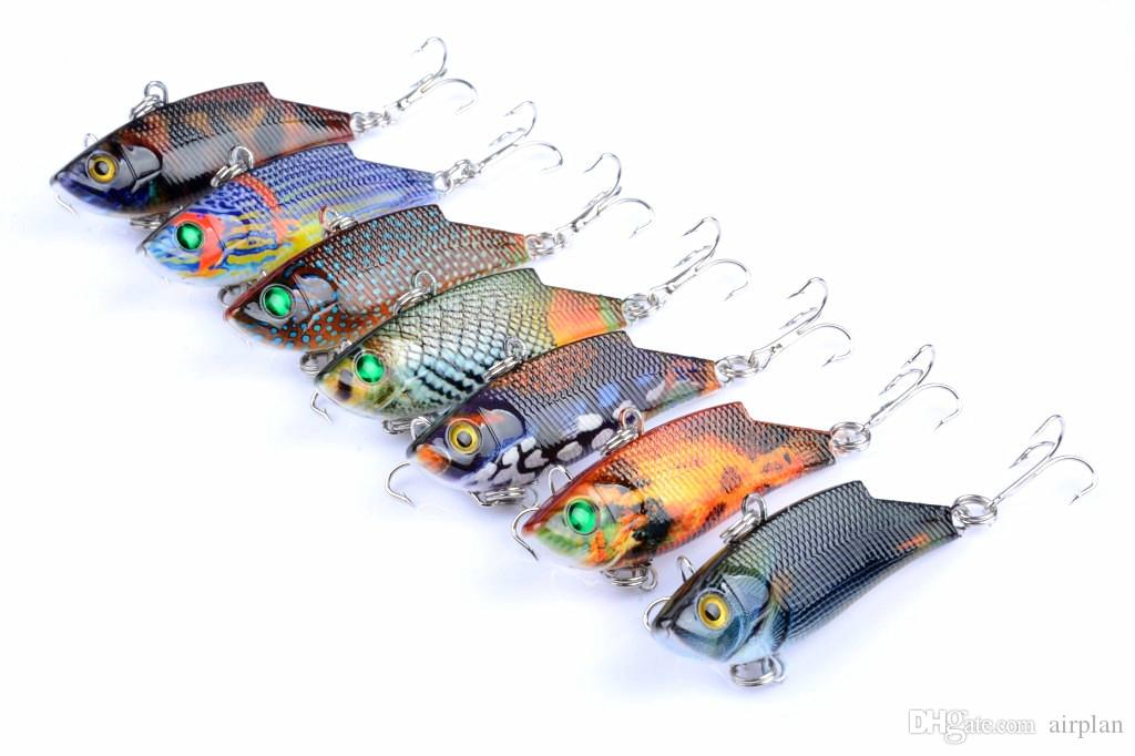 Topwater fishing lure artificial bait 5.5cm/9.5g vib plastic hard fake lures fishing tackle pesca hooks