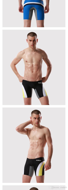 Sexy Men Swim Shorts Bikini Clothing Summer Trunks Beach Sea Holiday Shorts Board Surf Bikini Largo Boxer Hombre Deporte Colores Patchwork