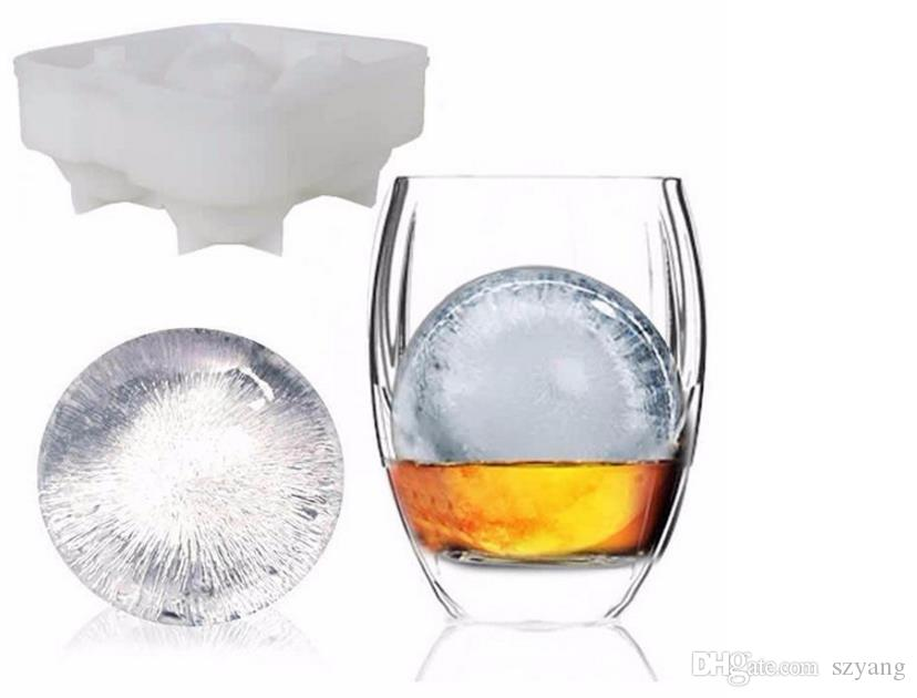 Free DHL hot sale Bar Drink Whiskey Sphere Big Round Ball Ice Brick Cube Maker Tray Mold Mould On Sale Life