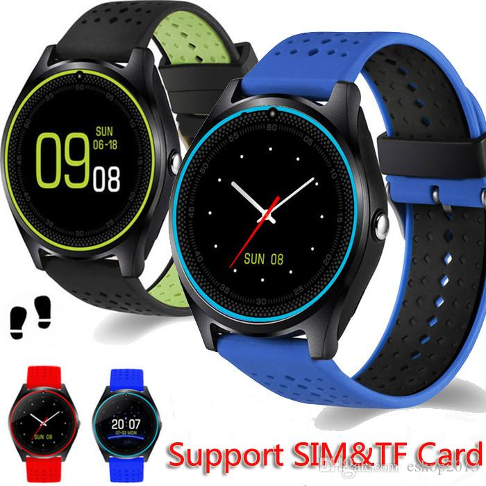 V9 Bluetooth Smart Watch With Camera Support TF SIM card 2G Pedometer Health Sport Clock Fitness Tracker Smartwatch For Android IOS