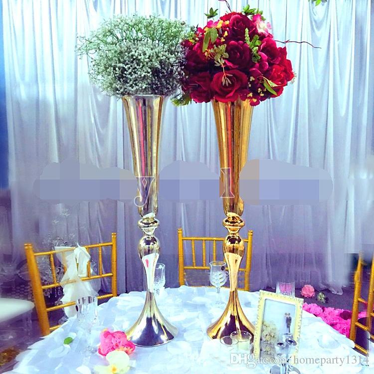 Großhandel 2017 Hochzeit T Bühne Herzstück Straße Blei Tisch Dekor  Blumenvase Display Hochzeit Dekoration Heimtextilien Blumenständer 88cm Von  Homeparty1314 ...