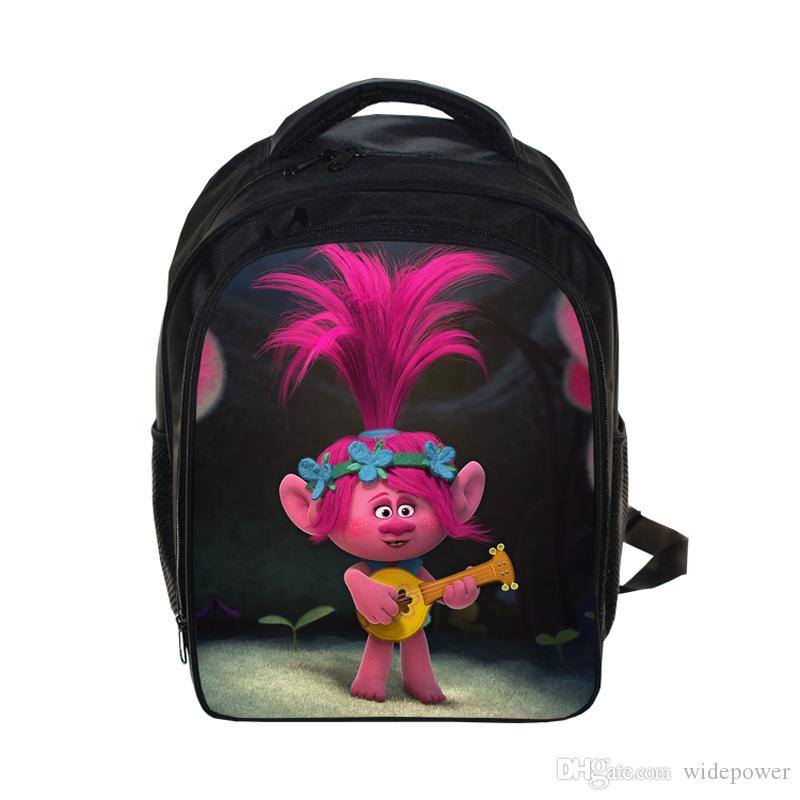 Cartoon Trolls Bag Printing Backpack Kids Boys Age 3 13 Children ...