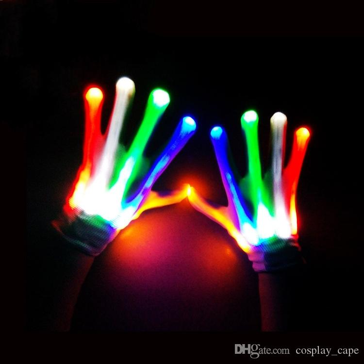 LED gloves for Kids children Party Christmas Hallowmas Cosplay glowing gloves A-0479