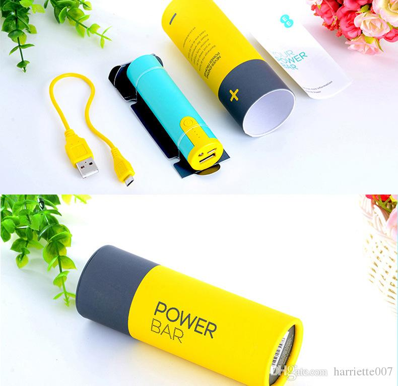 2600mAh Portable mini Power Bank universal USB External Backup Battery for all mobile phone iPhone/samsung/htc cell phone With Retail box
