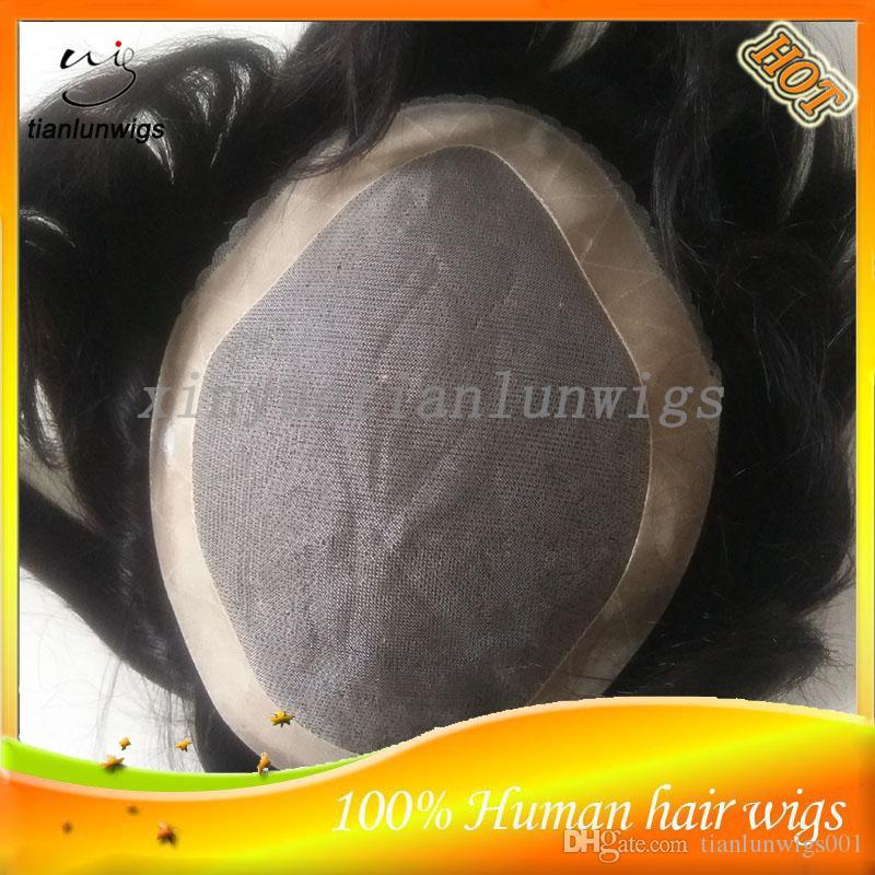 Virgin Human Hair Men's Toupee Hair Piece Toupees For Black Men Indian Men's system Custom Order