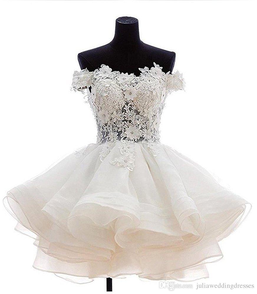 2017 дешевые кружева аппликации органза короткие выпускного вечера Homecoming платья плюс размер бисером кристаллы выпускной вечер платье коктейль Qc124